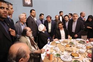 مراسم افطاری رئیسجمهور با هنرمندان و بازیگران + صحبت های محمدرضا گلزار