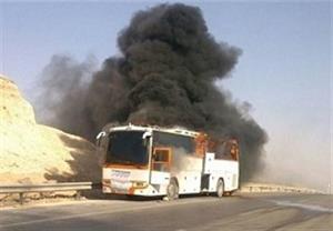 راننده تریلر مقصر تصادف اتوبوس با تانکر سوخت