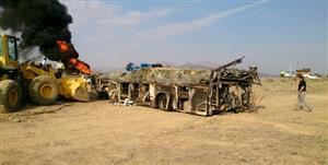 راننده تریلر مقصر تصادف اتوبوس با تانکر سوخت شناخته شد